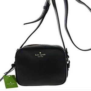 Authentic Kate Spade Pyper Black Leather Crossbody
